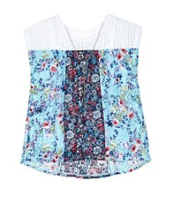 A. Byer Girls' 7-16 Printed Blouse