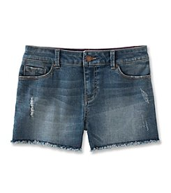 Calvin Klein Girls' 2T-6X Boyfriend Cut-Off Denim Shorts