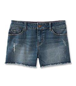 Calvin Klein Girls' 2T-6X Boyfriend Cut-Off Denim Shorts