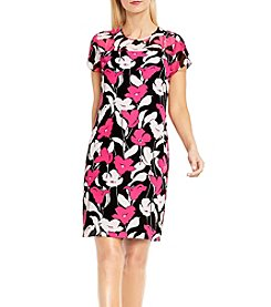 Vince Camuto® Floral Cap Sleeve Dress