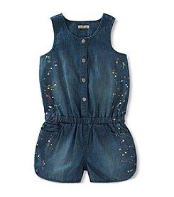 Calvin Klein Jeans Girls' 2T-6X Splatter Print Romper