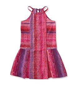 Calvin Klein Girls' 7-16 Drop Waist Halter Dress
