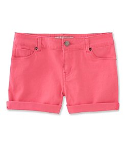 Calvin Klein Girls' 2T-6X Roll-Up Shorts