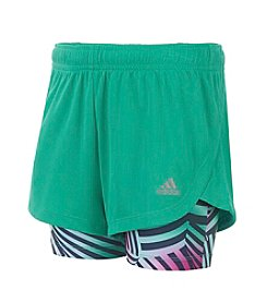 adidas® Girls' 7-16 Marathon Mesh Shorts
