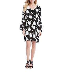 Karen Kane® Floral Bell Sleeve Dress