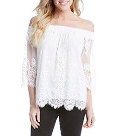 Karen Kane® Lace Off Shoulder Blouse