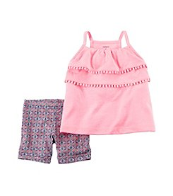 Carter's® Girls' Fringe Tank with Printed Jersey Shorts Set