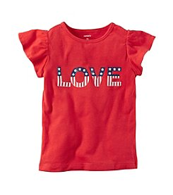 Carter's® Girls' 2T-8 Love Americana Flutter Sleeve Tee