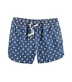 Carter's® Girls' 2T-8 Star Print Americana Chambray Shorts