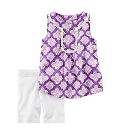 Carter's® Girls' 2T-8 Trellis Print Tank With Jersey Short Set