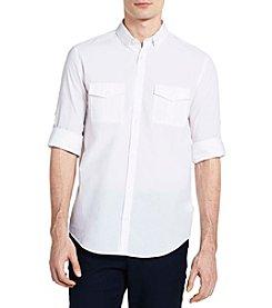 Calvin Klein Men's Long Sleeve Roll Up Fine Sleeve Shirt