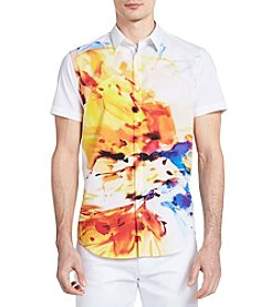 Calvin Klein Short Sleeve Exploded Floral Shirt
