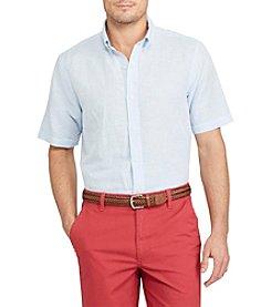 Chaps® Linen Cotton Button Down Short Sleeve Sport Shirt