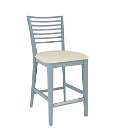 Canadel Narrow Spaced Ladder Back with Upholstered Seat Counter Stool