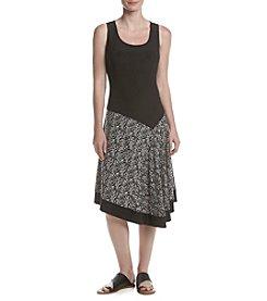 Prelude® Printed Skirt Asymmetrical Hem Dress