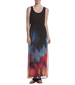 Nina Leonard® Printed Maxi Dress