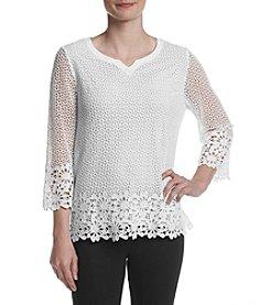 Alfred Dunner® Crochet Top