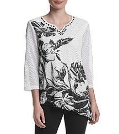 Alfred Dunner® Printed Asymmetrical Hem Shirt
