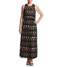 Jessica Howard® Petites' Lace Blouson Maxi Dress