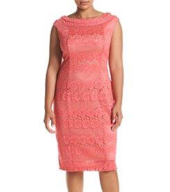 Gabby Skye® Plus Size Lace Sheath Dress