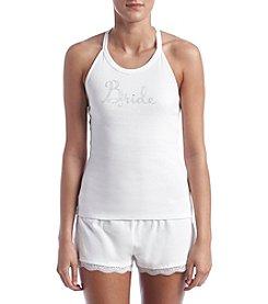 Betsey Johnson® Lace Trim Short Pajama Set