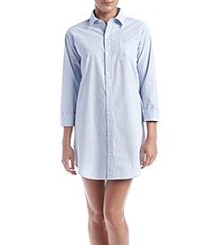 Lauren Ralph Lauren® 3/4 Sleeve Blue Striped Sleepshirt