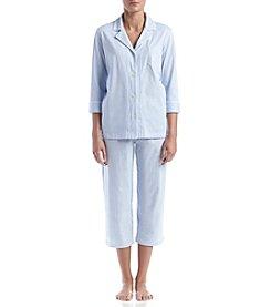 Lauren Ralph Lauren® Pinstripe Capri Pajama Set