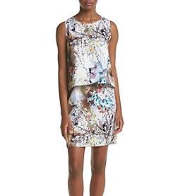 Nicole Miller New York™ Floral Pop-Over Sheath Dress