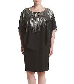 AGB® Plus Size Metallic Dress