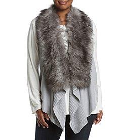 MICHAEL Michael Kors® Plus Size Faux Fur Front Vest