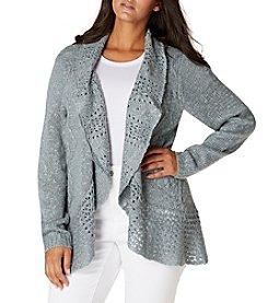 Vintage America Blue™ Plus Size Crochet Cardigan