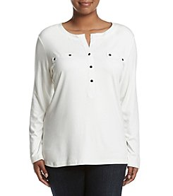 Jones New York® Plus Size Relaxed Fit Henley