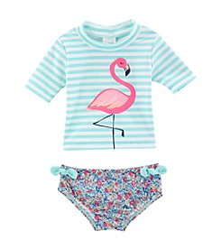 Carter's® Baby Girls' Flamingo Rashguard Swimsuit Set