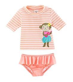 Carter's® Baby Girls' Monkey Rashguard 2-Piece Swimsuit
