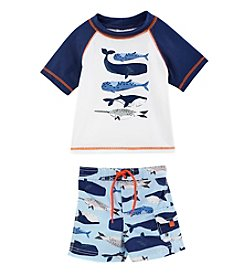Carter's® Baby Boys Whale Rashguard Swimsuit Set