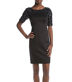Adrianna Papell Beaded Sleeve Dress