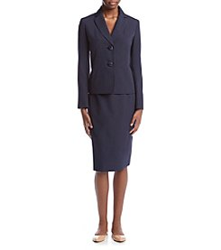 LeSuit® Seersucker Skirt Suit Set