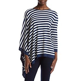 Anne Klein® Asymmetrical Striped Sweater