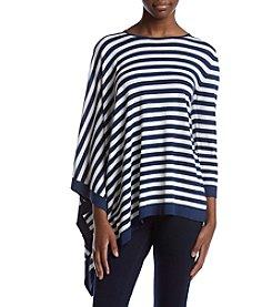 Anne Klein® Asymmetrical Striped Sweater