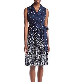 Anne Klein® Notch Collar Wrap Dress