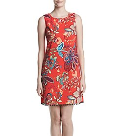 AGB® Red Floral Shift Dress