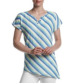 Alfred Dunner® Lace Striped Top