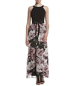 S.L. Fashions Floral Printed Skirt Dress