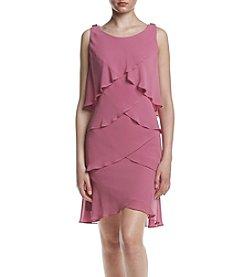 S.L. Fashions Chiffon Tulip Hem Dress