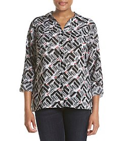 Studio Works® Plus Size Printed Shirt