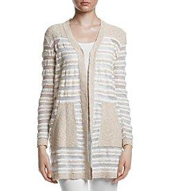 Jones New York® Textured Open Front Cardigan