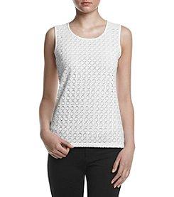 Kasper® Circle Lace Knit Cami