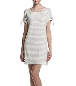 Calvin Klein Cold Shoulder Striped Knit Dress