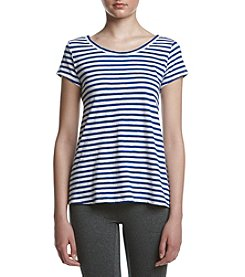 Calvin Klein Performance Cross Back Striped Tee
