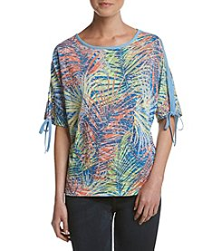 Rafaella® Burnout Jungle Print Top